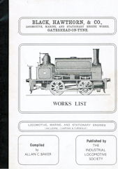 Black, Hawthorn & Co., Works List