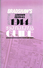 Bradshaw's August 1914 Continental Rail Guide