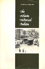 The Atlanta Historical Bulletin