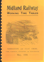 Midland Railway WTT May 1886
