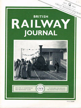 British Railway Journal Special GWR Edition Nos 1 & 2